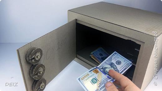 Как сделать сейф из картона