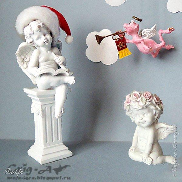 Ангел красив и размашист, Ангел высок и строен, У ангела русы кудри, У ангела кроток взгляд. Е.Грант ----------------------------------------- Всем ангельский привет! С наступающим! Пусть всё у вас в нов году будет хорошо и пусть хранит вас ваш Ангел-Хранитель!ом Конечно, не трудно после заголовка, эпиграфа и приветствия понять, что сегодня у нас на повестке ангелы. Вернее, один ангел, еще один ангел в состав оркестра, который задумал Игорь: не просто набор елочных шаров, а ангельский набор из шести ангелов в красивой коробке:)
