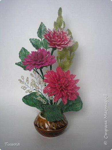 Очень захотелось сделать георгины, сделав один цветок, на втором застопорилась, закончилось вдохновение.