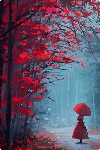 Сегодня,я бы хотела пригласить вас в волшебный, зачарованный лес.Чтобы побывать там со мной,запаситесь бумагой,красками и кистями. фото 30