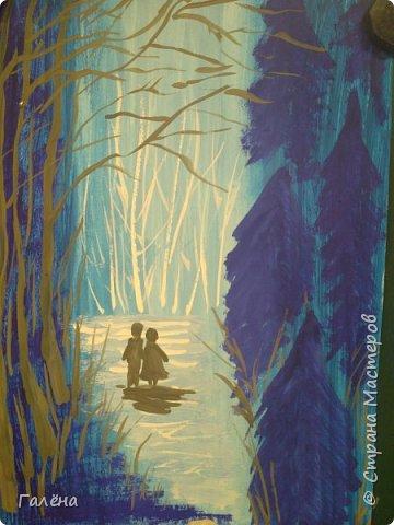 Сегодня,я бы хотела пригласить вас в волшебный, зачарованный лес.Чтобы побывать там со мной,запаситесь бумагой,красками и кистями. фото 12