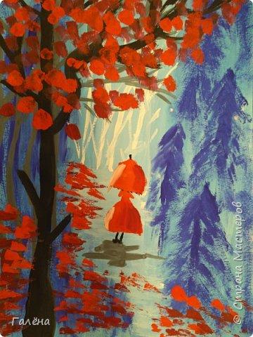 Сегодня,я бы хотела пригласить вас в волшебный, зачарованный лес.Чтобы побывать там со мной,запаситесь бумагой,красками и кистями. фото 26
