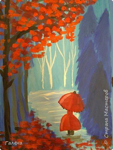 Сегодня,я бы хотела пригласить вас в волшебный, зачарованный лес.Чтобы побывать там со мной,запаситесь бумагой,красками и кистями. фото 27