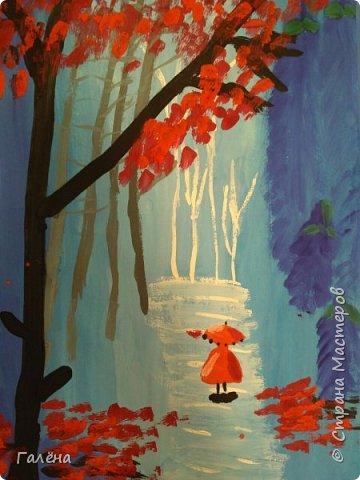 Сегодня,я бы хотела пригласить вас в волшебный, зачарованный лес.Чтобы побывать там со мной,запаситесь бумагой,красками и кистями. фото 29