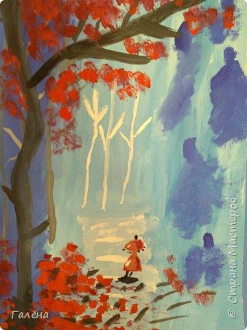 Сегодня,я бы хотела пригласить вас в волшебный, зачарованный лес.Чтобы побывать там со мной,запаситесь бумагой,красками и кистями. фото 28