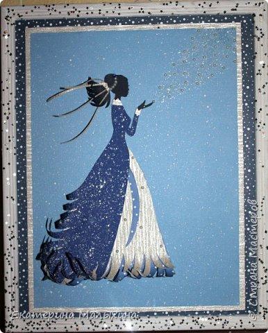 """Эту открытку """"Танцующая девочка"""", я сделала для своей племяшки. Она занимается танцами.  фото 3"""