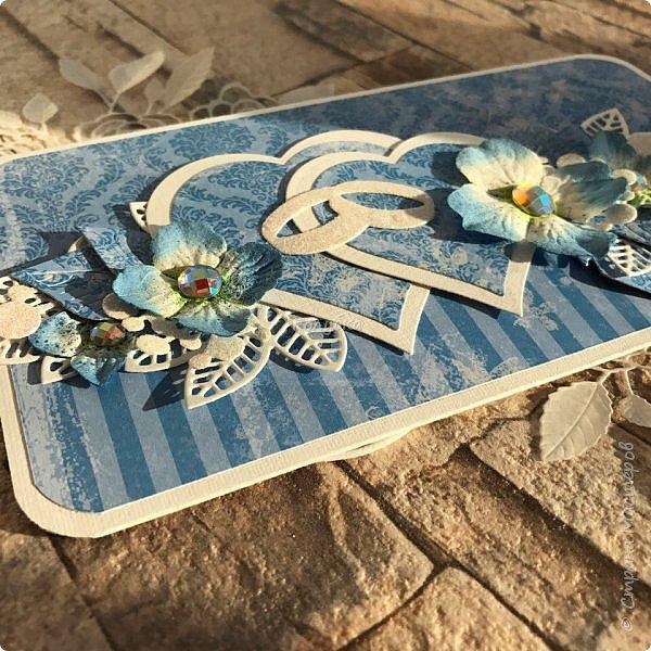 Сын сегодня ходил на свадьбу , где указан голубой цвет:)  Сделала ему вот такой конвертик, следом родился еще один, но в другом цвете.  фото 3