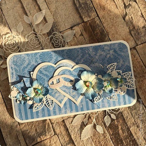 Сын сегодня ходил на свадьбу , где указан голубой цвет:)  Сделала ему вот такой конвертик, следом родился еще один, но в другом цвете.  фото 1