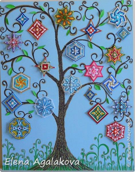 Вот такое у меня выросло Волшебное деревце (55-70см). Мои малышки-мандалы расцвели на нем (21 мандала -это чудесное число включает и 3 и 7)  Если хотите разместить свои мандалы в интерьере на стене это хорошая идея для мандал любого размера!