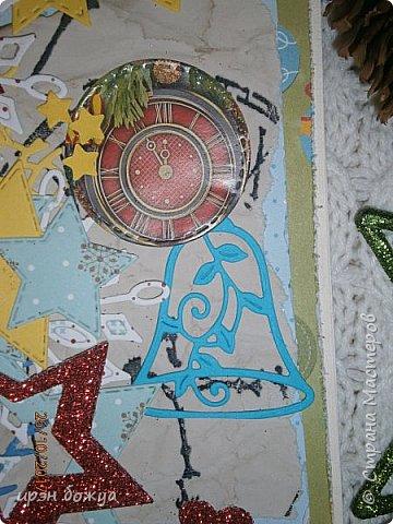 Сегодня я с открытками. Обе сделаны в предверии нового года, только красненькая выполняла роль двух открыток сразу- и на Новый годи и на день Рождение.  фото 7