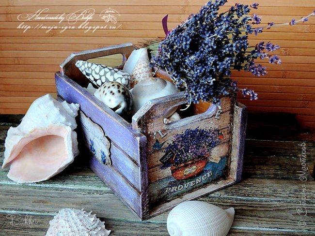 Всем лавандовый привет! Испачкала еще один ящичек... И конечно же, если красить, то фиолетовым, сиреневым, лавандовым, а как еще?:)