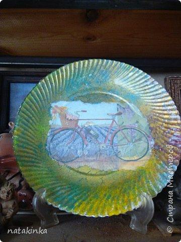 тарелка декупаж
