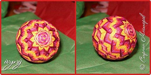Моим детям  в этом году захотелось подарить  учителям в подарок темари ,вот пришлось потрудиться,чему  я очень рада,не все шарики были подарены,пополнили  мою коллекцию. фото 2
