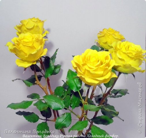 Добрый день мастера и мастерицы!!!!Сегодня у меня яркие желтые розы,лучшее средство для понятие настроения промозглым зимним днем!!! фото 3