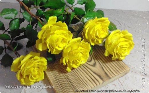 Добрый день мастера и мастерицы!!!!Сегодня у меня яркие желтые розы,лучшее средство для понятие настроения промозглым зимним днем!!! фото 6