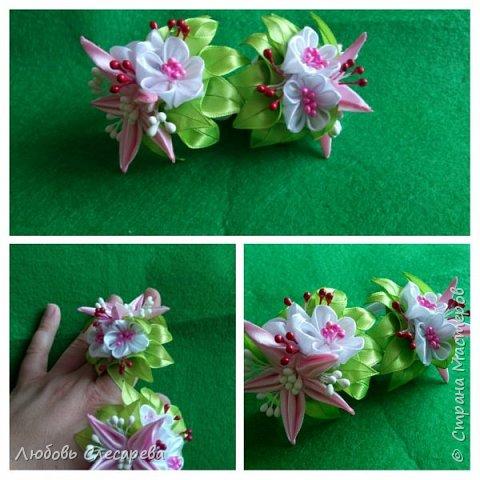 Брошь из атласных лент, МК роз есть на Ютюбе фото 3