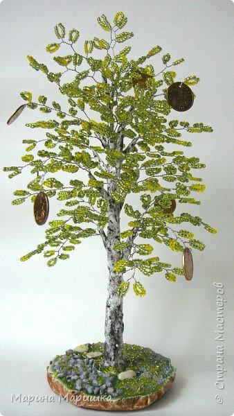 На одном дыхании и в приподнятом настроении родились вот такие деревца с монетками. фото 4