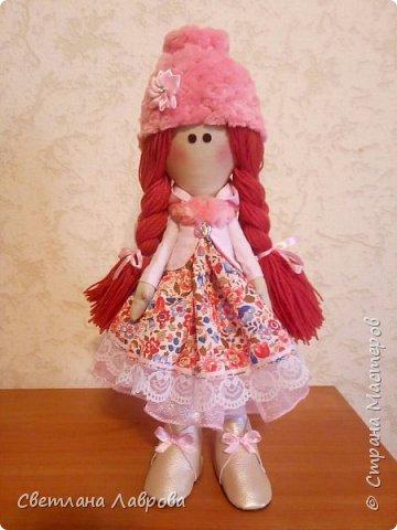 Здравствуйте мастера и мастерицы! Куколку Леру,  сшила в подарок своей племяннице на день рождения. фото 1