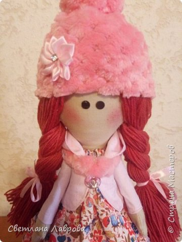Здравствуйте мастера и мастерицы! Куколку Леру,  сшила в подарок своей племяннице на день рождения. фото 2