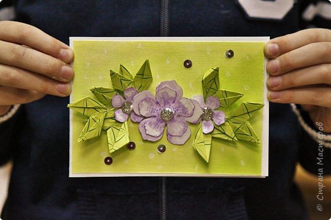 """Мне очень хочется показать отдельно детские работы с моего мастер-класса.  На мк были дети, которые совсем не знакомы с оригами, но """" терпение и труд, все перетрут """", как гласит пословица:)  Огромное им спасибо !!! А за такие красивые фото работ,  спасибо Татьяне из студии Шебби:) фото 13"""
