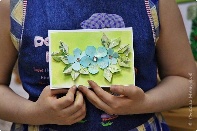"""Мне очень хочется показать отдельно детские работы с моего мастер-класса.  На мк были дети, которые совсем не знакомы с оригами, но """" терпение и труд, все перетрут """", как гласит пословица:)  Огромное им спасибо !!! А за такие красивые фото работ,  спасибо Татьяне из студии Шебби:) фото 15"""