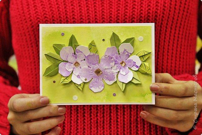 """Мне очень хочется показать отдельно детские работы с моего мастер-класса.  На мк были дети, которые совсем не знакомы с оригами, но """" терпение и труд, все перетрут """", как гласит пословица:)  Огромное им спасибо !!! А за такие красивые фото работ,  спасибо Татьяне из студии Шебби:) фото 3"""