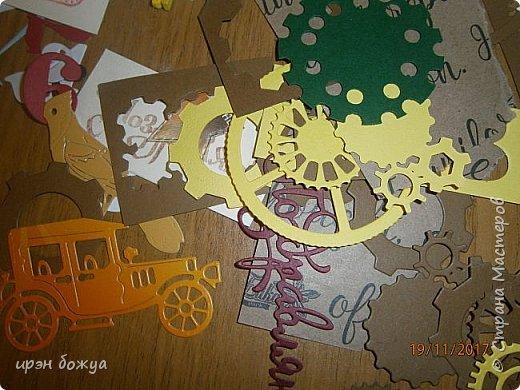 Всем здравствуйте. Еще одна открытка на День Рождение мужчине. В работе использованы вырубки, бинт, декор-прищепка. фото 3