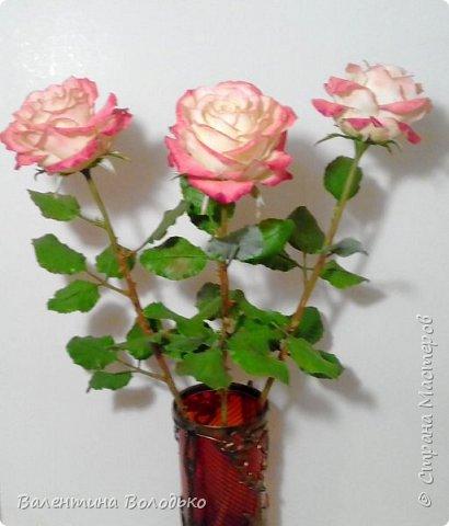 Добрый день мастера и мастерицы!!!!Очередные розы представляю вашему вниманию!!! фото 3