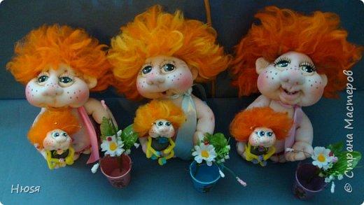 """Кукла- композиция """" Антошка """".  Выполнена в технике: """"Скульптурный текстиль"""". Высота 27 см. фото 6"""