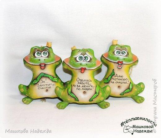 Всем привет! Я к вам сегодня с зеленым позитивом!))) Лягушки-Царевны!  Игрушки сшиты из бязи, наполнены синтепоном, покрыты кофейным раствором и расписаны акриловыми красками. И самое главное, заряжены хорошим настроением!!!    фото 4