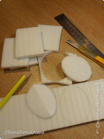 Доброе время суток Страна.....сотворился небольшой наборчик подвесочек из материала ТИПА пеноплекса.... о самом материале подробнее можно проинформироваться у Любаши( lubasik )......почему ТИПА , потому что использую  отрезки от сендвич панелей для пластиковых окон.это материал, который используют для откосов......верхняя и нижняя части убираются , а нутро идет на поделки....... .в общем - подвесочки..... соорудились быстро , очень быстро....я их и сфоткать то толком тоже не успела, только на работе про это вспомнила....потому кадр не очень то удачен...... фото 2