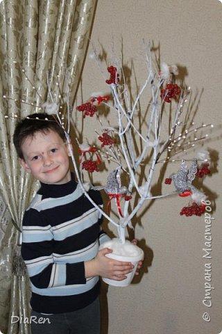 Вот такое сказочное дерево, мы с сыном сделали в садик. фото 1