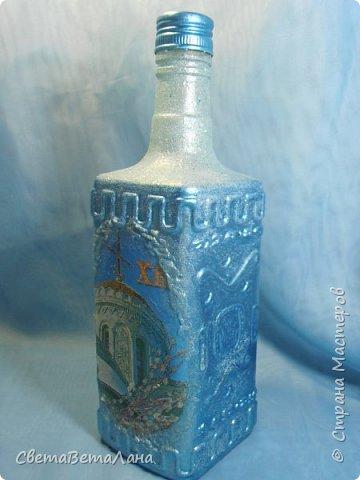 """Доброе время суток Страна и её Обитатели...опять я подсела на утилизацию баночек - бутылочек..... .....сегодня у меня """"замороженная"""" бутылочка под святую воду и очередная баночка с натирками....... фото 2"""
