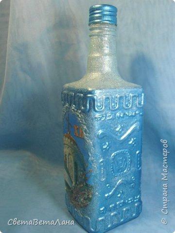 """Доброе время суток Страна и её Обитатели...опять я подсела на утилизацию баночек - бутылочек..... .....сегодня у меня """"замороженная"""" бутылочка под святую воду и очередная баночка с натирками....... фото 3"""