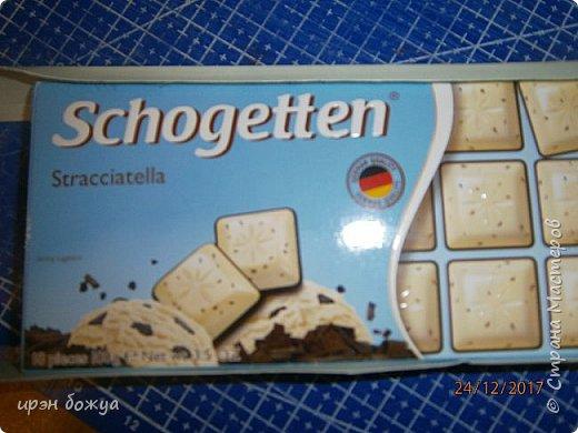 Вскм здравствуйте. Сегодня я с шоколадницей. В основе готовая коробочка от шоколадки. Но понятно ничего не выбрасывается. Украсила коробочку и положила в нее новую шоколадку. И так смотрим. фото 2