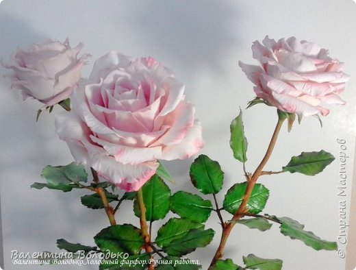Добрый день мастера и мастерицы!!!!С первым днем весны!!!!Хоть сегодня у нас на улице пурга,весна уже наступила и пускай эти розы порадуют вас!!! фото 1