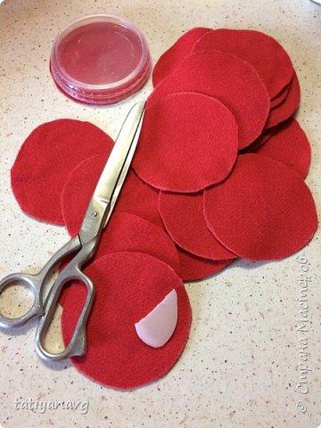 Предлагаю легкий способ изготовления броши из остатков ткани. фото 2