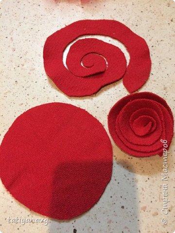 Предлагаю легкий способ изготовления броши из остатков ткани. фото 3