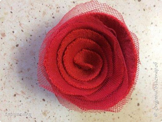 Предлагаю легкий способ изготовления броши из остатков ткани. фото 5