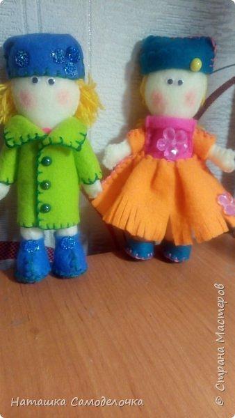 Вот такие получились куколки.