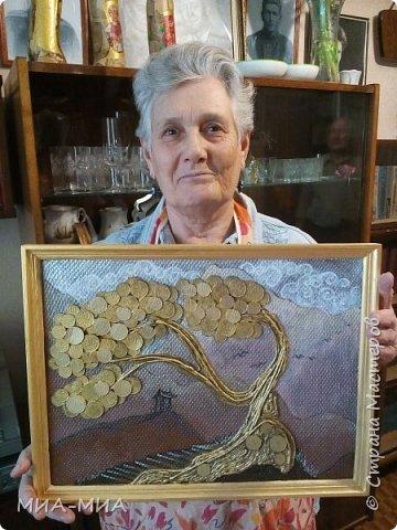 Доброго времени суток, Страна! Это моя вторая проба создания денежного дерева в подарок ! Нравится мне японский художник Кацусико Хакусай. Вот и решила в его стиле сделать деревце.  фото 5