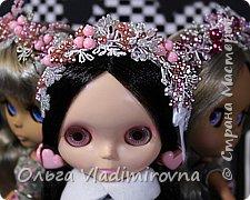Зимняя вишня - ободки из бисера для кукол. Аналогичные можно делать и для себя.