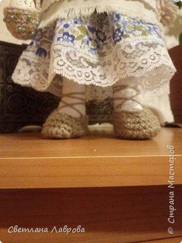 Здравствуйте мастера и мастерицы! Разрешите представить вам Весняну (Весенняя). Куколка сделана на заказ к празднику Пасхе. фото 2