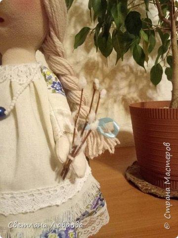 Здравствуйте мастера и мастерицы! Разрешите представить вам Весняну (Весенняя). Куколка сделана на заказ к празднику Пасхе. фото 3