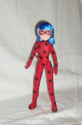 Сшила куклу леи Баг. Высота 33 см,на проволочном каркасе,голову сделала подвижной фото 1