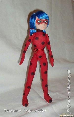 Сшила куклу леи Баг. Высота 33 см,на проволочном каркасе,голову сделала подвижной фото 2