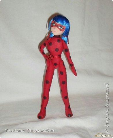 Сшила куклу леи Баг. Высота 33 см,на проволочном каркасе,голову сделала подвижной фото 4