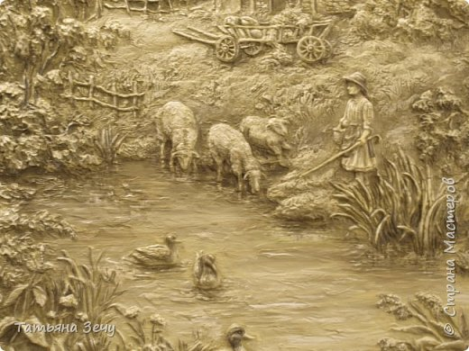 """Всем доброго времени суток.Не очень давно, я делилась с вами нашими работами в отеле """"Бессарабия"""", в городе Измаиле. Выкладываю на ваше обозрение последние мои работы. Бессарабия славится охотой и рыбалкой,а также в нашем регионе развито овцеводство,сельское хозяйство и виноделие.Темы охоты и овцеводства выпало отобразить мне. фото 6"""