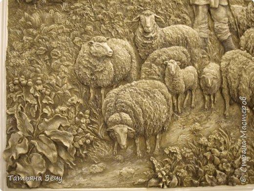 """Всем доброго времени суток.Не очень давно, я делилась с вами нашими работами в отеле """"Бессарабия"""", в городе Измаиле. Выкладываю на ваше обозрение последние мои работы. Бессарабия славится охотой и рыбалкой,а также в нашем регионе развито овцеводство,сельское хозяйство и виноделие.Темы охоты и овцеводства выпало отобразить мне. фото 8"""