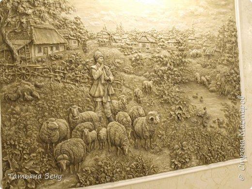 """Всем доброго времени суток.Не очень давно, я делилась с вами нашими работами в отеле """"Бессарабия"""", в городе Измаиле. Выкладываю на ваше обозрение последние мои работы. Бессарабия славится охотой и рыбалкой,а также в нашем регионе развито овцеводство,сельское хозяйство и виноделие.Темы охоты и овцеводства выпало отобразить мне. фото 2"""